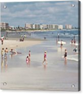 Busy Beach Day Acrylic Print