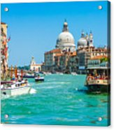 Busy Canal Grande In Venice Acrylic Print