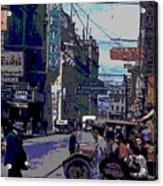 Busy  City Street Acrylic Print
