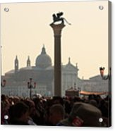 Busy Day at St. Mark's Square Acrylic Print