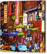 Busy Downtown Street Acrylic Print