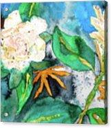 Busy Gardenias Acrylic Print