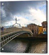 Busy Ha'penny Bridge 4 Acrylic Print
