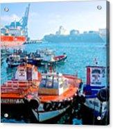 Busy Port Of Valparaiso-chile Acrylic Print