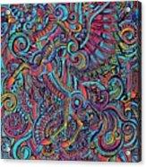 Busy Unicorn Pattern Acrylic Print