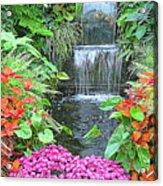 Butchart Gardens Waterfall Acrylic Print