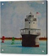 Butler Flats Lighthouse Acrylic Print by Ron Sylvia