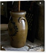 Butter Churn On Hearth Still Life Acrylic Print