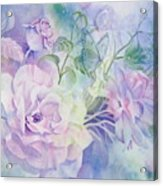 Butterflies-and-roses Acrylic Print