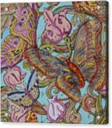 Butterflies Everywhere Acrylic Print