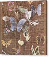 Butterflies On A Tree Acrylic Print