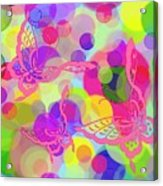 Butterfly Bubbles Acrylic Print