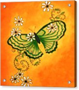 Butterfly Doodle Acrylic Print