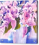 Pink Butterfly Flowers Acrylic Print