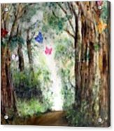 Butterfly Forest Acrylic Print