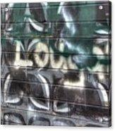 Butterfly Graffiti Acrylic Print