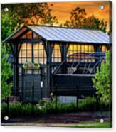 Butterfly House At Sunset Acrylic Print