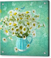 Butterfly Kisses And Flower Petal Wishes  Acrylic Print