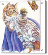 Butterfly Kitten Acrylic Print