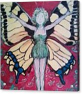 Butterfly Lady Acrylic Print