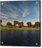Butterfly Lake At Middleton Place Acrylic Print