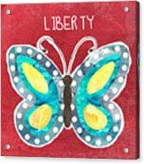 Butterfly Liberty Acrylic Print