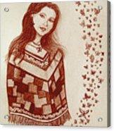 Butterfly Princess Acrylic Print