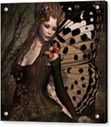 Butterfly Princess Of The Forest 2 Acrylic Print