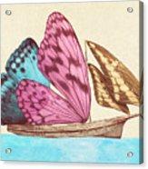 Butterfly Ship Acrylic Print