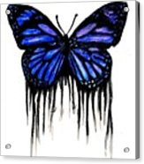 Butterfly Tears Acrylic Print by Mike Grubb