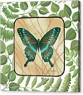 Butterfly With Leaves 2 Acrylic Print