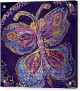 Butterfly With Stitches On Wings Acrylic Print