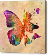 Butterfly World Map  Acrylic Print