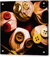 Button Sack Lollypop Monsters Acrylic Print