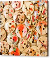Buttoning A Background Acrylic Print