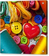 Buttons And Thread Acrylic Print