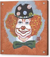 Buttons The Clown Acrylic Print