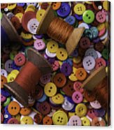 Buttons With Thread Acrylic Print