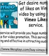 Buy Vimeo Likes Acrylic Print