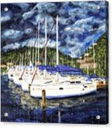 Bvi Sailboats Painting Acrylic Print