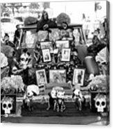 Bw Classic Car Trunk Decor Day Dead  Acrylic Print