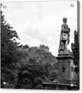 Bw Edinburgh Scotland  Acrylic Print