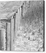 Bw Fence Line Acrylic Print