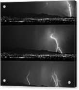 Bw Lightning Thunderstorm Sequence Acrylic Print