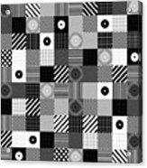 Bw Pop Pattern Acrylic Print
