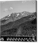 Bw Rail Alaska  Acrylic Print