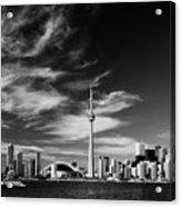 Bw Skyline Of Toronto Acrylic Print