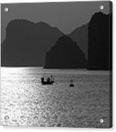 Bw Tones Ha Long Bay Vietnam  Acrylic Print