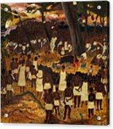 Bwa Kayiman Haiti 1791 Acrylic Print by Nicole Jean-Louis