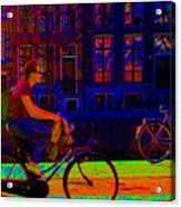 By Bicycle Amsterdam Acrylic Print